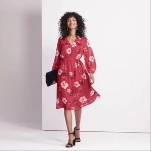 Dresses & Skirts - Red Floral Dress In S
